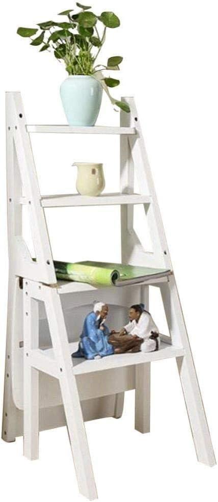 XITER Escalera Plegable Escalera Silla Escalera multifunción de Doble Uso Soporte de Flores Estantería de 4 Capas Comedor de bambú Taburete Escalera (Color : D): Amazon.es: Hogar