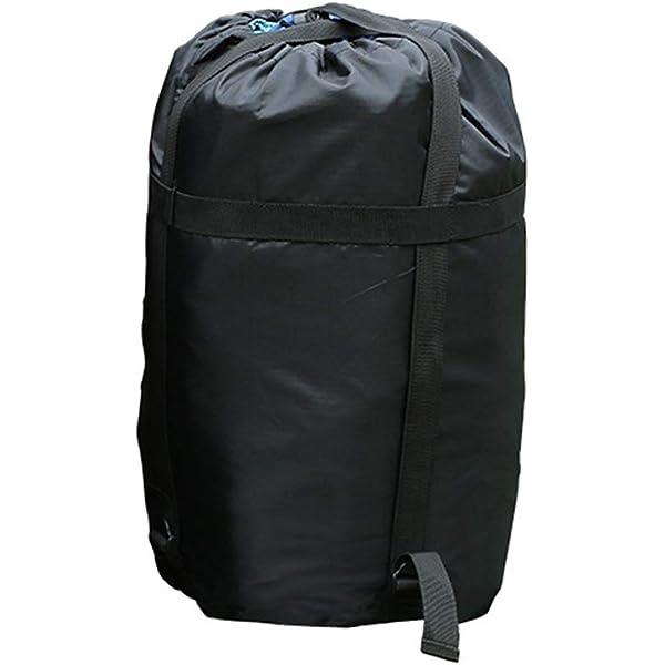 46 L, nailon, impermeable, compresi/ón, ligera, compacta, para camping, senderismo, viajes, color negro PYBBO Saco de dormir