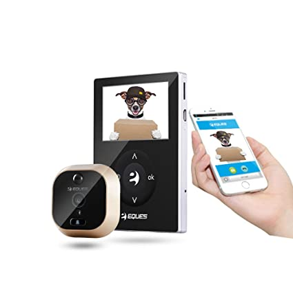 Eques R21 WiFi Sensor PIR de movimiento anillo timbre cámara Digital mirilla visor para Android y