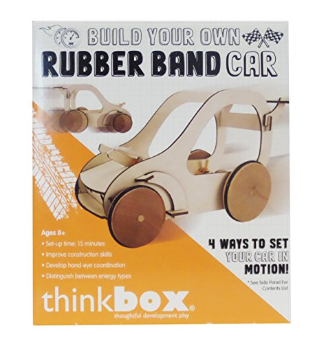 thinkbox Build Your Own Rubber Band Car Science Kit
