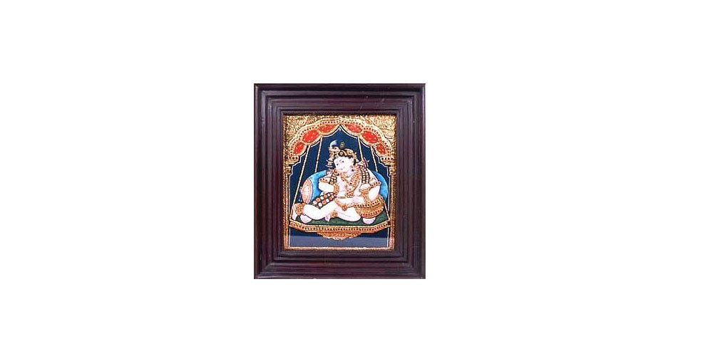 Tanjore Paintings - Darbar Krishna