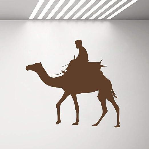 Geiqianjiumai Camello Desierto árabe beduino Silueta Pared ...