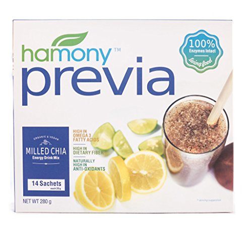 Harmony Supplements (Harmony Previa) Organic Chia Seed Plus Prebiotic Powder, 14 Count