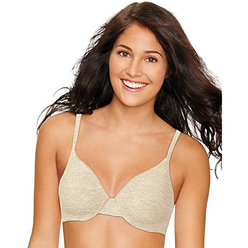 - Ultimate ComfortBlend T-Shirt Underwire Bra,,Oatmeal Heather,,36B,,2PACK