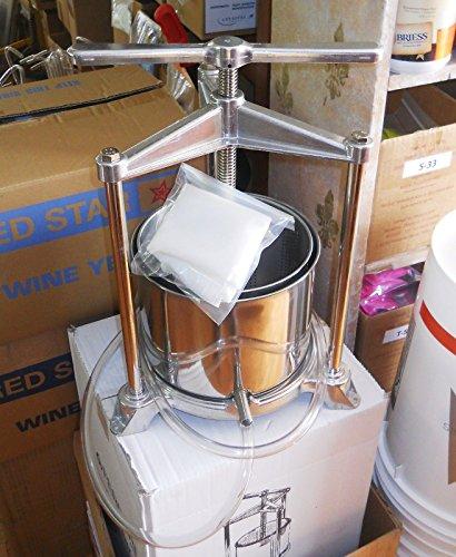 WINE PRESS & FRUIT JUICER FERRARI GRANDE 5 QUART HEAVY DUTY Stainless Steel & Aluminum Italian Squeezer by Ferrari (Image #8)