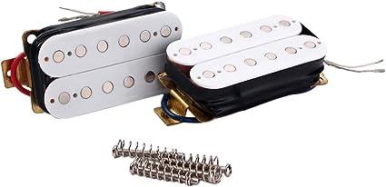 HEALLILY Guitarra Eléctrica Doble Coil Humbucker Pickup Guitarra ...
