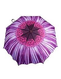 Austin House Purple Daisy Telescopic Umbrella, Purple, International Carry-On