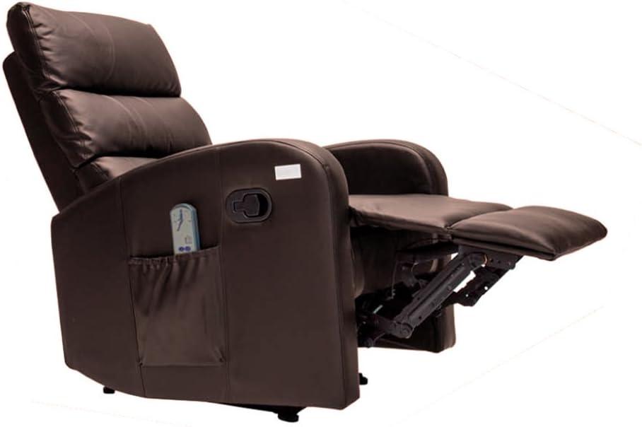 Sillón de Masaje Comfort con Sistema de Calor Lumbar y 10 Motores Que Cubren Las 4 Zonas Corporales (Chocolate)