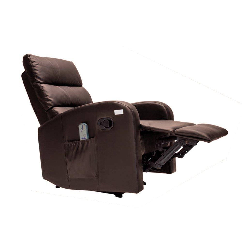 Novohgoar Sillón de Masaje Comfort con Sistema de Calor Lumbar y 10 Motores que cubren las 4 Zonas Corporales (Chocolate)