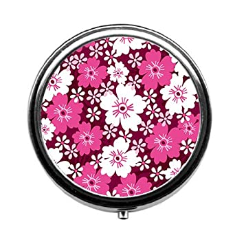 Amazon Big And Small Pink Flower Pill Boxpill Case Round
