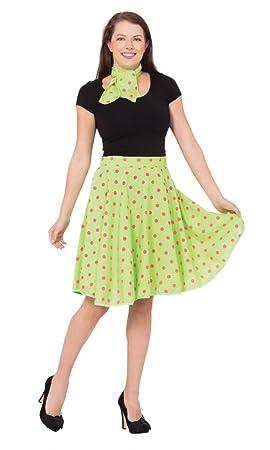 Bristol Novelty AC049C Falda Rock n Roll Skirt, Verde Claro ...