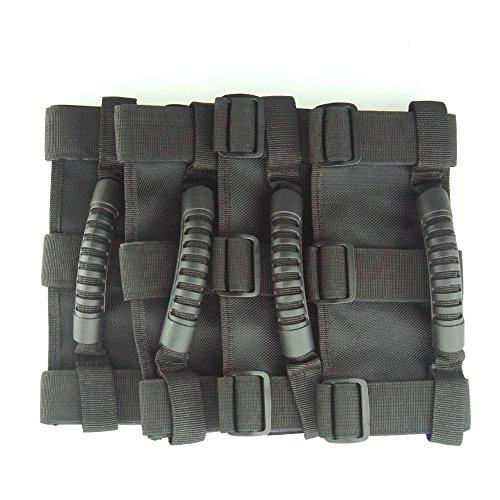 Super More Roll Bar Mount Side Grab Handle Handles Kit Black for 4WD Off Road Accessories For Jeep Wrangler JK CJ TJ VAN (4)