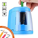 SMARTRO Pencil Sharpener, BEST Heavy-duty Steel Blade, Electric Pencils Sharpener with Auto Stop for Colored Pencils Artists Kids Adults