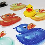 SlipRx USA Nonslip Bathtub Or Shower Stickers Safety Adhesive Duck | Non-Toxic, Anti-Bacterial, Mold and Mildew Resistant, Antislip Surface Area-6' Diameter Mat | Rubber Ducky
