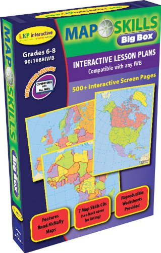 - Map Skills: IWB Big Box CDs: Ready-to-use Digital Lesson Plans (Interactive Whiteboard Software, IWB Software CD)