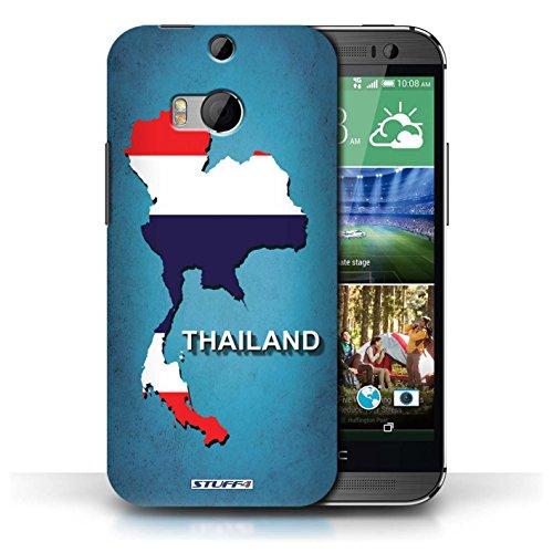Kobalt® Imprimé Etui / Coque pour HTC One/1 M8 / Thaïlande/Thai conception / Série Drapeau Pays