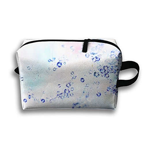 Travel Toiletries Bag Blue Diamonds Painting Phone Coin Cosmetic Pouch Tote Multifunction Organizer Storage Bag