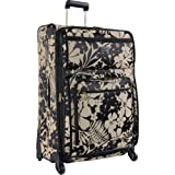 Tommy Bahama Luggage Gem 28-Inch Expandable Spinner, Black/Tan, One Size, Bags Central