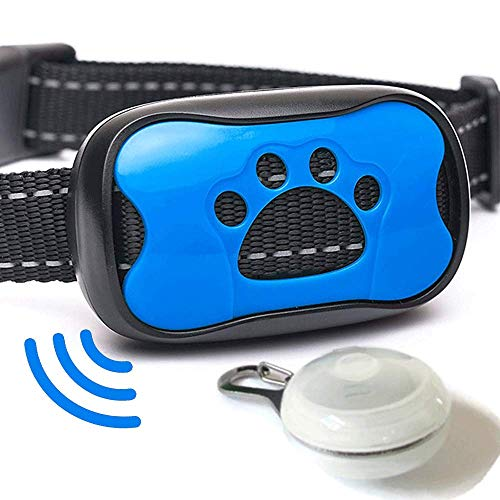 Planet Petware No Shock Bark Collar - Quick Results - 7 Levels - Humane Training - 1 Year Warranty - 2018 Upgrade - Free Safety LED Light