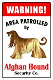 Warning Area Patrolled By Afghan Hound 8