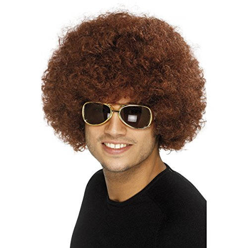 70's Funky Afro Wig, Brown,