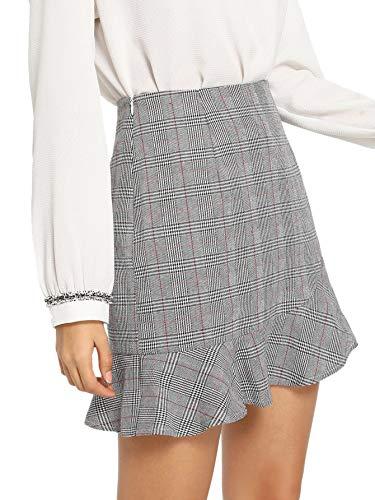 Asymmetrical Ruffled Skirt - 9