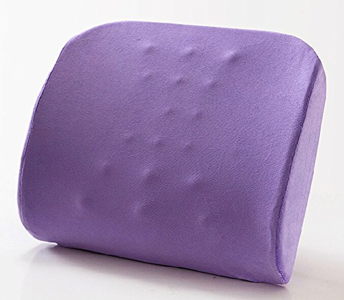 Moyishi Light Purpel Memory Foam Seat Chair Lumbar Cushio...