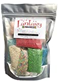 Collection of 10 kinds of flavored Sprinkles Jimmies,bags of 1.05 oz 100% sugar, gluten free 10.58 Oz.