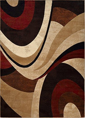 Home Dynamix Tribeca Slade Modern Area Rug, Abstract Brown/Red 5'2