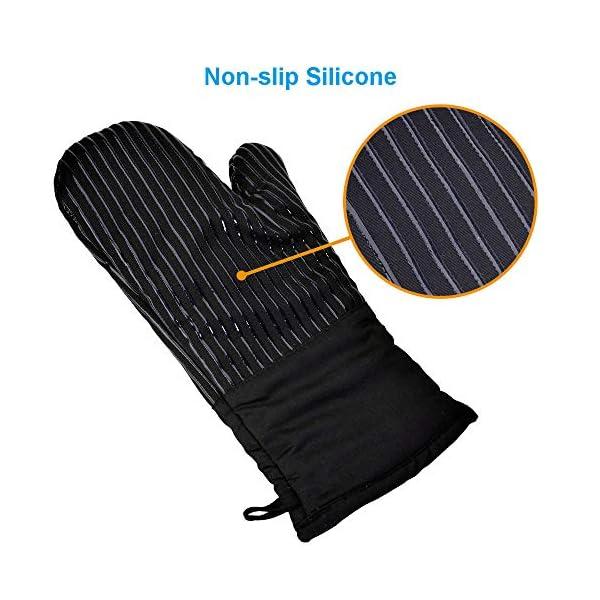 Guanto da Forno Antiscivolo Guanti da Cucina Silicone Doppio,Oven Gloves Professionali Resistenza al Calore Extra Lungo… 3 spesavip