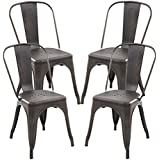 Poly and Bark Trattoria Side Chair in Bronze (Set of 4)