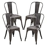 Kyпить Poly and Bark Trattoria Side Chair in Bronze (Set of 4) на Amazon.com