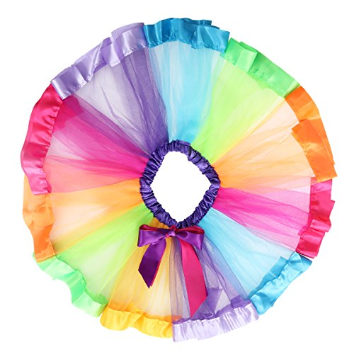 Ballet Dance Skirt Dancing TOYMYTOY for Size Girls Kids Tutu M Party Dress Party Carnival Rainbow Performance XwYYaAqf