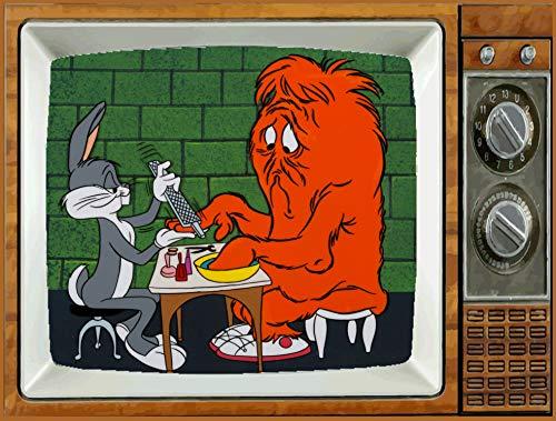 BUGS BUNNY& MONSTER HARE RAISING TV Fridge MAGNET 2