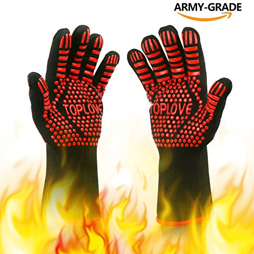 heat resistant silicon bbq gloves - 7