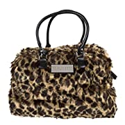 Trumpette Schleppbags Diaper Bag in Leopard Print Fur, Large