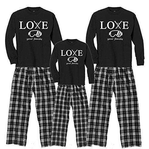 LYF Ski Trip Black Shirt Pant Set - Youth Medium, L/S, CBW Plaid Pants (380) (Snow White Outfit Ideas)