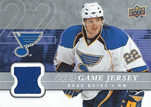 (HCW) 2008-09 Upper Deck Game Jersey BRAD BOYES NHL Hockey 01230
