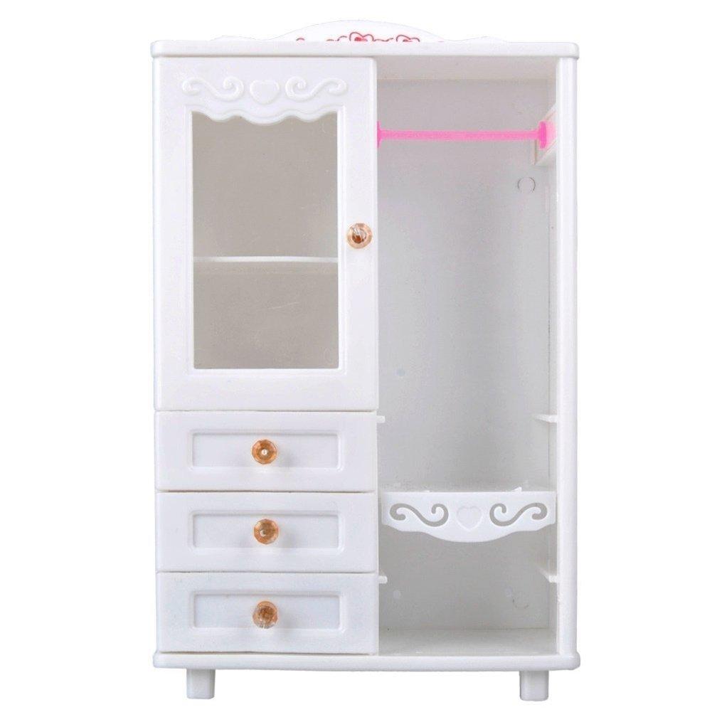 elegantamazing - Accesorios de plástico para Muebles de casa de muñecas (Armario + 10 colgadores): Amazon.es: Hogar