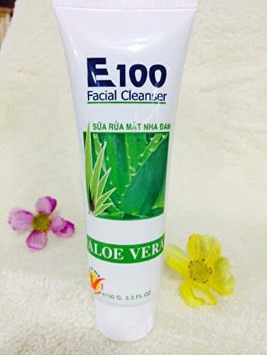 01 Boxes 100ml - Sữa rửa mặt E100 nha đam - Facial Cleanser - Facial Cleanser E100