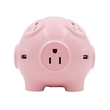 Review Cute Pig Multi-function Socket