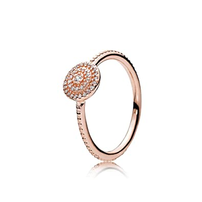 3a1a801cf Amazon.com: PANDORA Radiant Elegance Ring, PANDORA Rose & Clear CZ ...