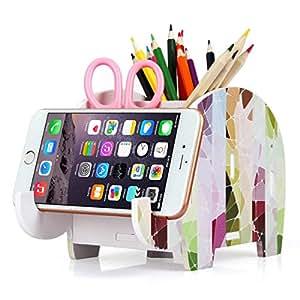4638401e913 Soporte de teléfono celular, COOLBROS Porta-lápiz de elefante de ...