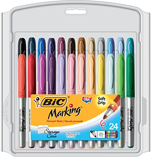 BIC Marking Permanent Assorted 24 Count