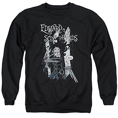 Edward Scissorhands - Hello Adult Crewneck Sweatshirt