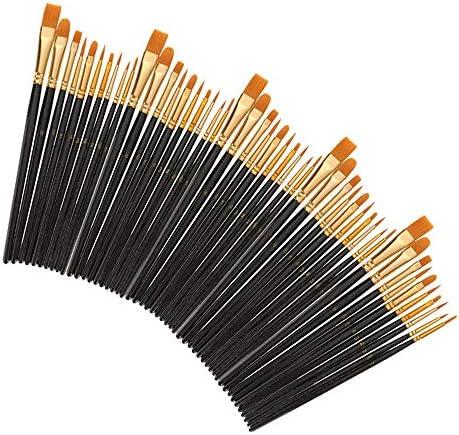 水彩筆 30個/キットアーティストがセットペイントペイントペンアーティストの絵画アクリルオイル水彩画用ブラシナイロンヘアブラシ絵画設定 とても使用やすいです (色 : Black, Size : 30pcs)