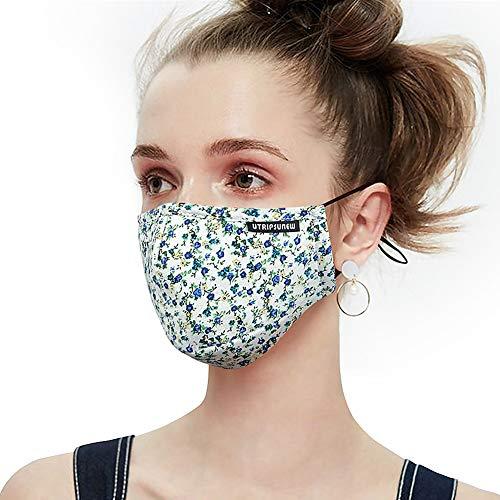 """Masque antipoussière anti-pollution lavable et réutilisable, masque protecteur pour le visage et la bouche en coton, Pm2 5 Masque pour respirateur pour allergies, pollen et pollen Masque 5 """"class ="""" main_img"""