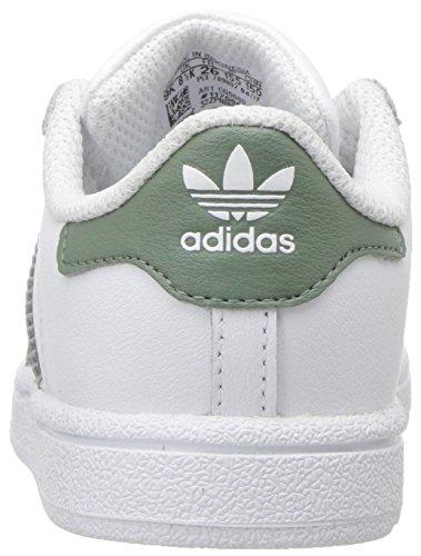 Adidas Vert Blanc Ginnastica Superstar Scarpe Métallisé Doré J Ragazzo Da 07Wq0wr4