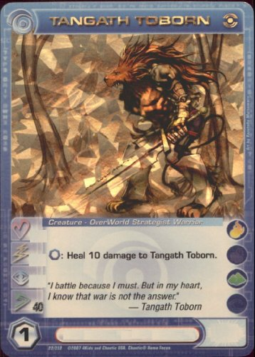TANGATH TOBORN Chaotic Premium Edition Season 1 Super Rare Gold Foil Card & Unused Code (MAX SPEED 40)
