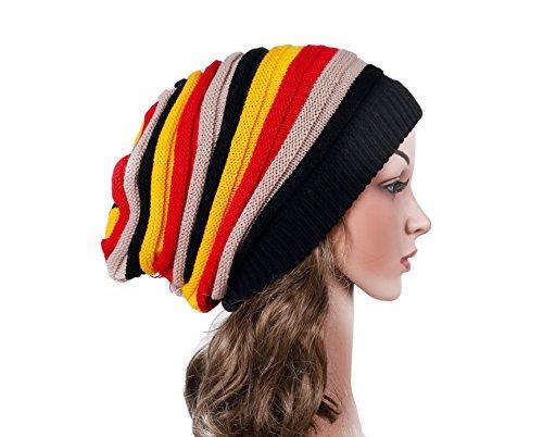 IRELIA Unisex Winter Warm Knitted Hats Cool Reggae Beanie Caps For Women & Men 005